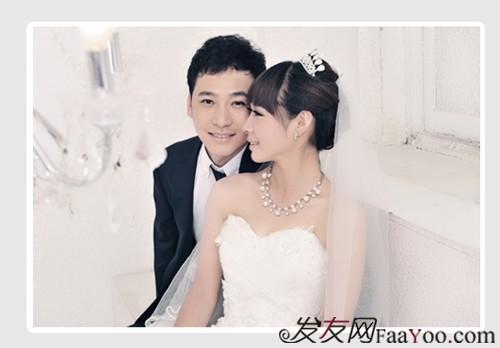 齐刘海婚纱照18图片图片